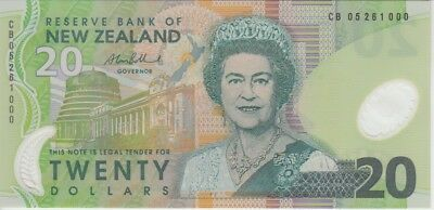 UNC QE II New Zealand Banknote P187b 20 Dollars 2005