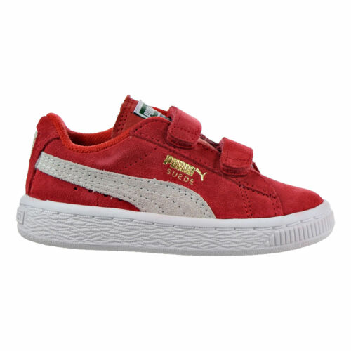 Puma Suede 2 Straps  Toddler Casual Shoes Red 356274 03 Sz5C-10c  Fast Ship K