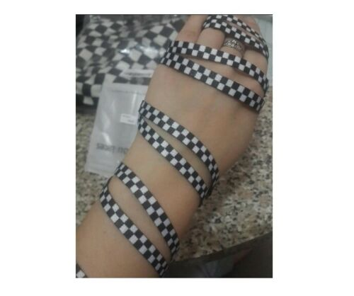 Checkered Shoelaces Flat Black White Grid Shoe Lace Polyester Sneaker Ribbons