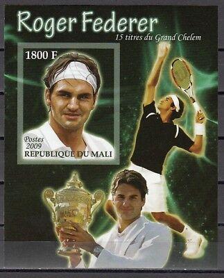2019 Neuer Stil Mali, 2009 Ausgabe Roger Federer, Tennisspieler, Imperf S / Blatt Vertrieb Von QualitäTssicherung