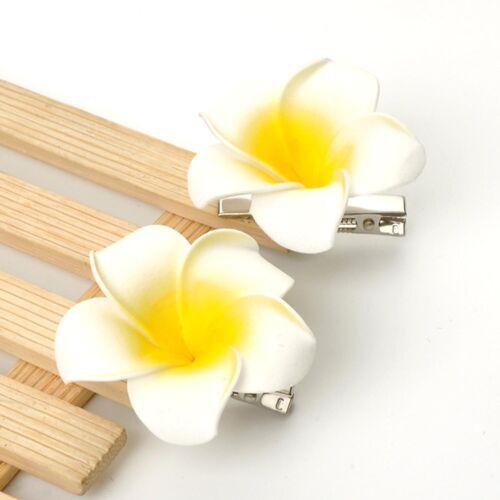 100pcs 2.4 inch Plumeria Hair Clip Hawaiian Flower Hair Accessories Girls Bridal