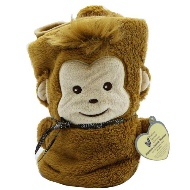 Monkey Childs Baby Fleece Cuddle Blanket
