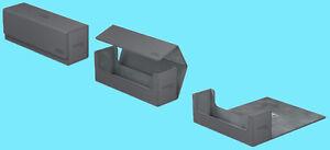 ULTIMATE-GUARD-ARKHIVE-GREY-XENOSKIN-FLIP-400-DECK-CASE-Card-Storage-Box-MTG