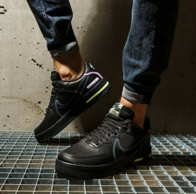 Air Force 1 React (gs) Black Violet Star Volt Youth Sz 6y Shoes ...