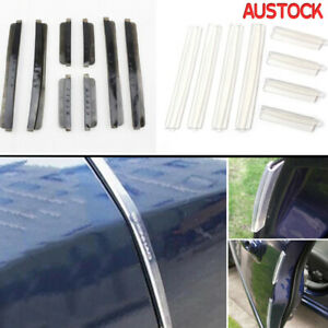 8PCS-Car-Side-Door-Edge-Defender-Protector-Protection-Strip-Clear-AU