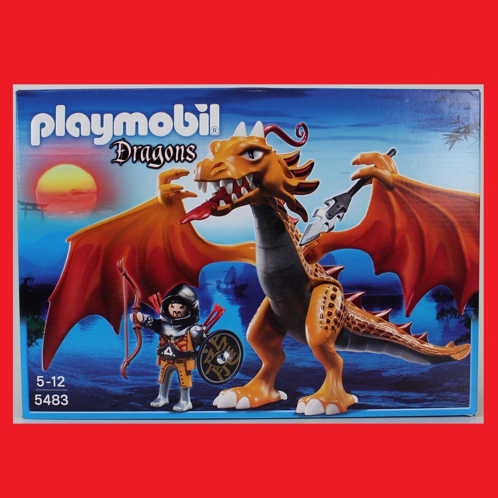 PLAYMOBIL 5483 Flammendrache Drachen Dragons Asia Ritter passt zu 5482 5479 6003