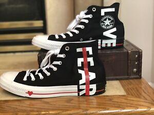 Details about RARE NEW CONVERSE CHUCK TAYLOR 70 FEAR LOVE 164685C Black White Red Men's 11 SZ