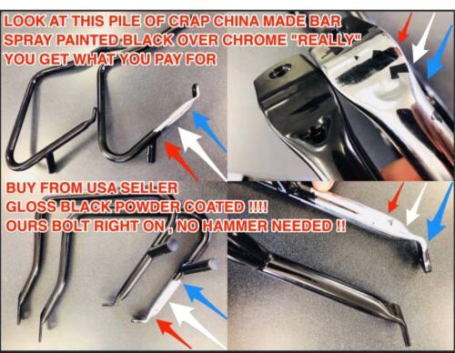 HARLEY TALL ROUNDBAR CHROME SISSYBAR BACK REST LOW RIDER S FXDL FXDB FLD 06-17