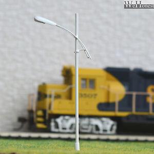 10x Model Street Lights Train Railway OO HO Lamp Posts LED UK SELLER