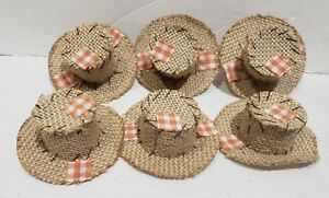 Thanksgiving Fall MINI Scarecrow Hats Crafts Bowl Filler Decor Set of 6