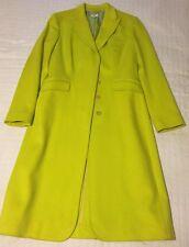 Coat women size 8 42 Paul Smith Blue Label Men Only Ladies Wool Neon Yellow