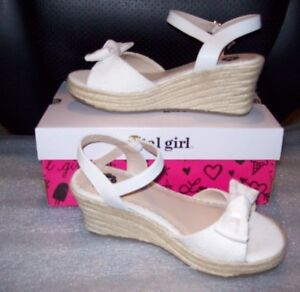 GIRLS ARIZONA ELINOR WEDGE SANDALS MULTIPLE COLORS// SIZES NEW IN BOX MSRP$40.00