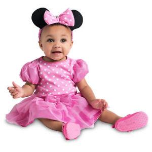 NWT-Disney-Store-6-9-12-18-24-Mos-Minnie-Mouse-Baby-Costume-Bodysuit-Headband