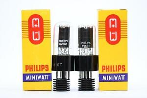 2-X-6V6GT-TUBE-PHILIPS-BRAND-TUBE-NOS-NIB-MATCHED-PAIR-CRYOTREATED-CH15V2