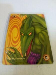 OVER POWER Card Game [1995]  X-MEN: SAURON Marvel Comics [NM+ 9.8] Super Villain