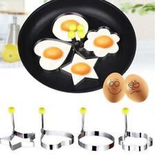 1x herramienta de cocina de cocina Acero inoxidable huevo frito Shaper Anillo Panqueque Molde Jp