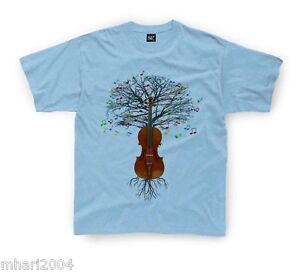 f4d0c75f Violin T-shirt Fiddle Musical Tree in Kids sizes 1-2yr up to 11yr ...