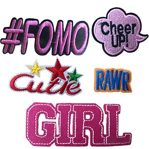Drôle Mots phrase Hashtag girl female Feminist rrrrrh brodé Iron On Patch