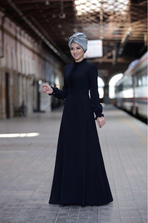 AR-759 Tesettür Elbise-Abaya-Hijab Kleid