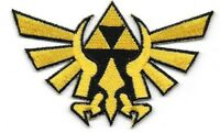 Legends Of Zelda Princess Triforce Gold Cutout Logo Embroidered 3 1/2 Patch