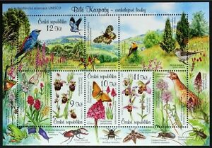 N057-CZECH-REPUBLIC-2007-Nature-Protection-Birds-Buttterflies-Insects-Mint-NH