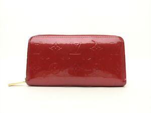 Louis-Vuitton-Authentic-Monogram-VERNIS-Pomme-D-039-amour-Clutch-Bifold-Purse-Wallet