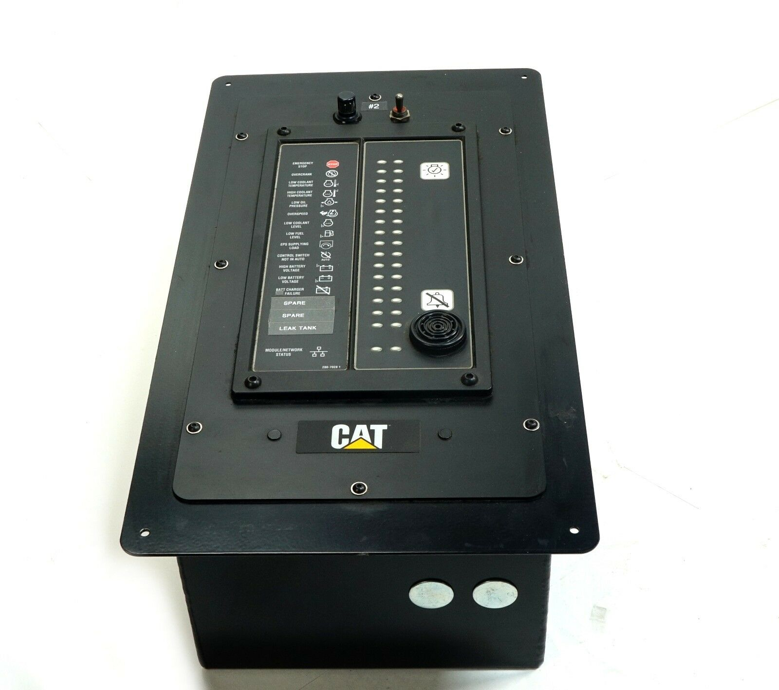 caterpillar generator control panel display