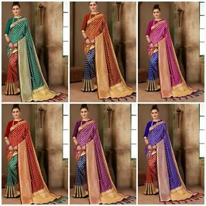 Banarasi-Saree-Sari-Designer-Bollywood-Wedding-Party-Wear-Weaving-Silk-Indian-LB