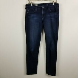 AG-Adriano-Goldschmied-The-Stilt-Cigarette-Skinny-Leg-Womens-Blue-Jeans-Size-29