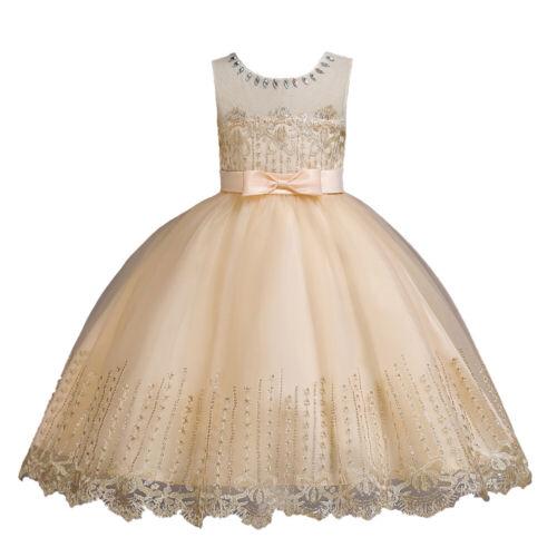 Flower Kids Tutu Birthday Princess Party Dress Girls Bridesmaid Chirstmas Gown