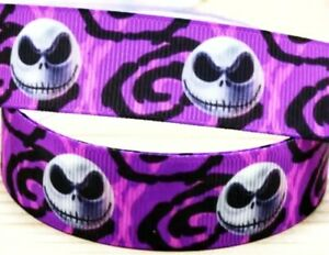 "Jack and Sally  3/"" wide grosgrain ribbon the listing is for 2 yards"