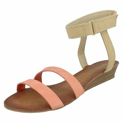 Savannah F0R866 Ladies Tan Flat Sandals UK 3 to 8 R10A