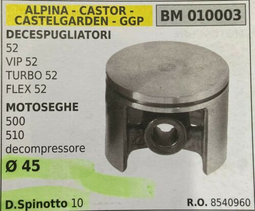 GGP BM010003 CASTELGARDEN CASTOR PISTONE COMPLETO ALPINA