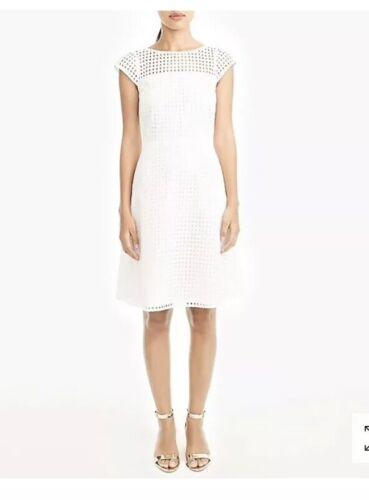 J. Crew Square Neck Eyelet Dress White