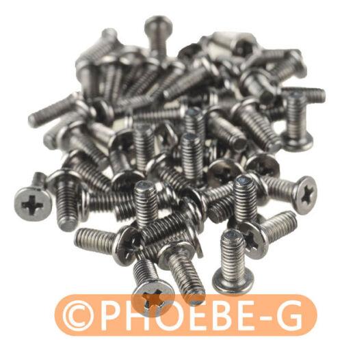 M2.5 x 6mm Phillips Flat Head Screw Black Nickel