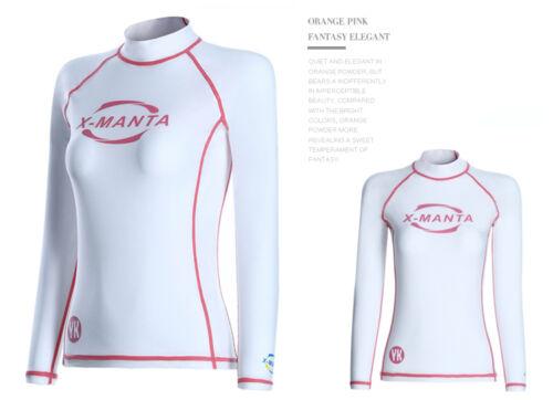 Women Swim Suit Swimwear Rash Guard Tops Scuba Surf Diving Long Sleeve T-Shirt