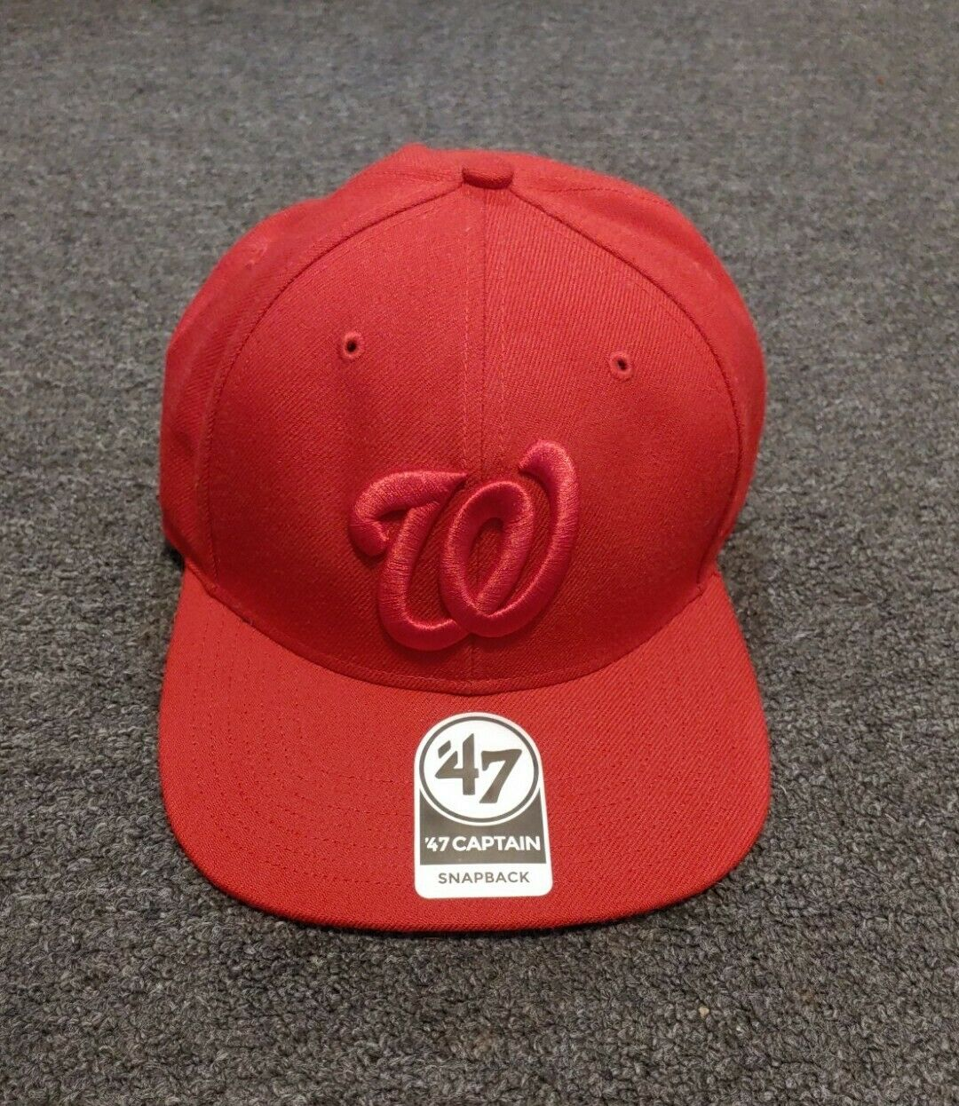 Forty Seven 47 Captain Snapback Red On Red Washin… - image 1