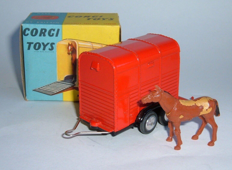 Corgi Toys No. 102, Rice's Pony Trailer with Pony, - Superb
