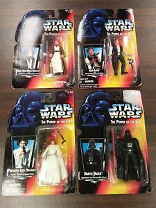 Lot-of-4-Star-Wars-Figures-POTF-Red-Obi-Wan-Kenobi-Leia-Han-Solo-Darth-Vader-NIP