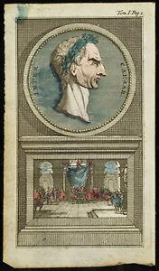 1763 - Ritratto Di Jules Cesare - Incisione