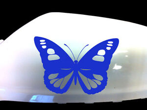 Butterfly-Girl-Car-Stickers-Wing-Mirror-Styling-Decals-Set-of-2-Blue
