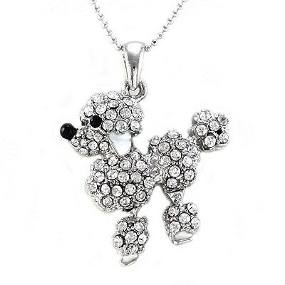 REAL handmade Poodle lady poodle pendant with chain dog pendant made of 925 sterling silver