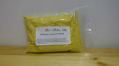 BEE POLLEN POWDER 100g - RAW natural food HIGH QUALITY- LOW PRICE