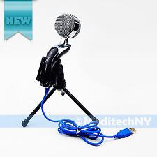 Audio Professional Condenser USB Microphone Mic Studio Sound Recording + Tripod