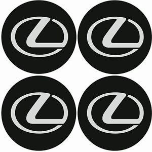 LEXUS-Emblem-Felgen-Aufkleber-Logo-Nabendeckel-Nabenkappe-Radkappe-4x56mm