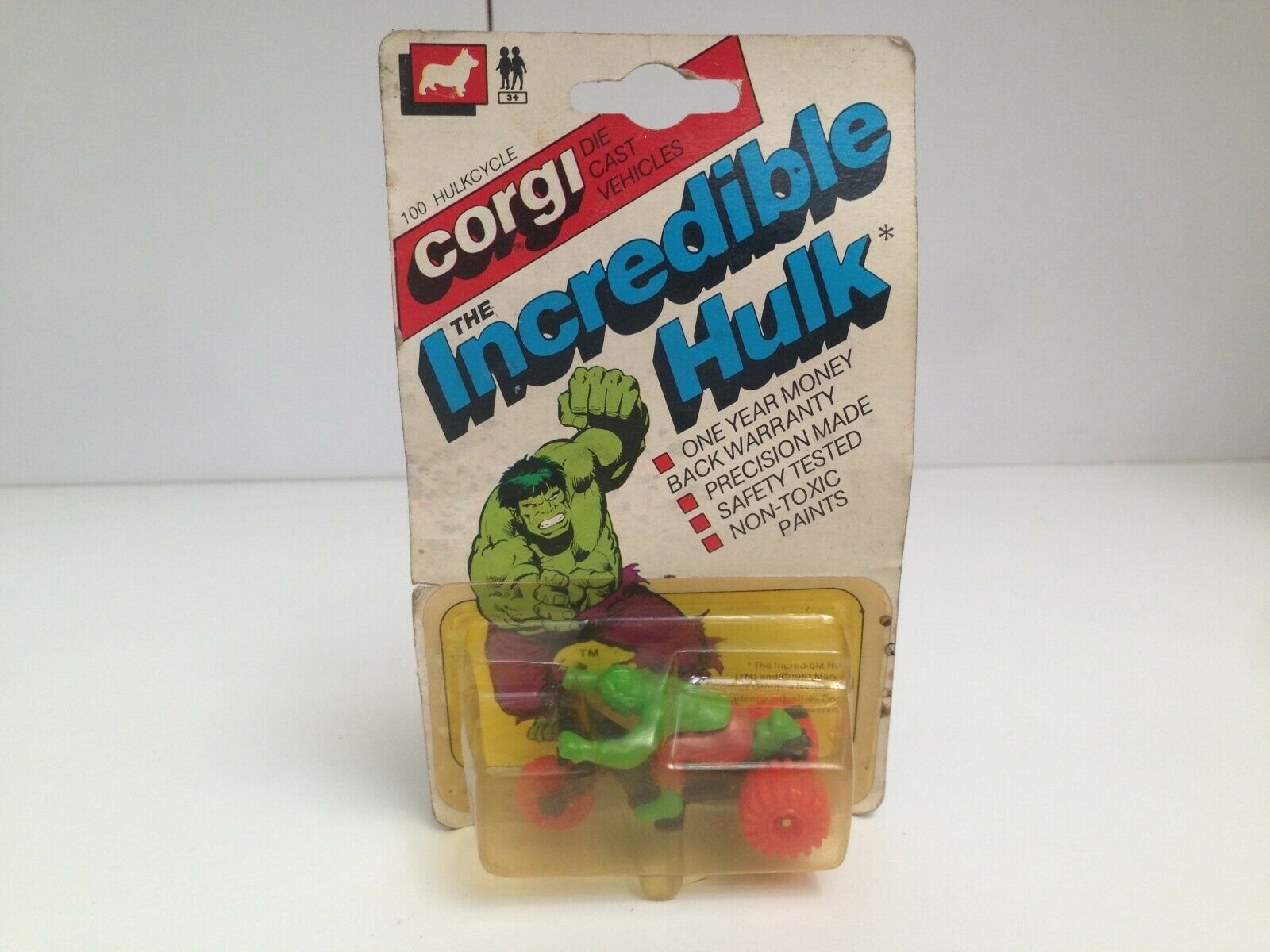 Rare Vintage 1981 Corgi Die Cast The Incredible Hulk Hulkcycle