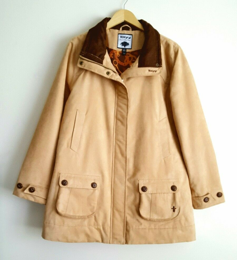 TOGGI LADIES HAYFORD CAMEL BROWN FAUX SUEDE COAT SIZE 18 RRP