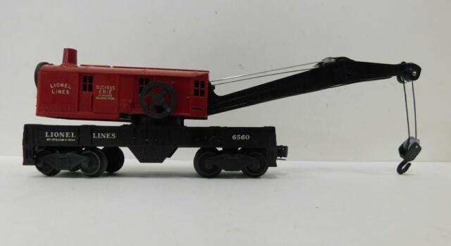 LIONEL 6560-25 BE CRANE CAR RED