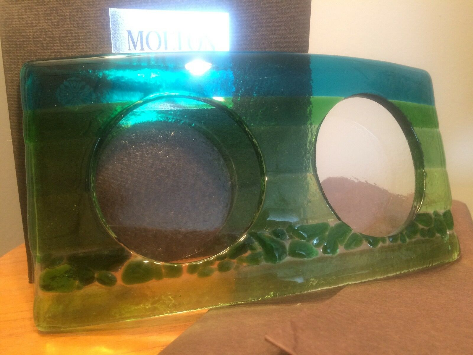 Molton marrón elemental glass Arc verde azul  hand wash holder hand cream holder