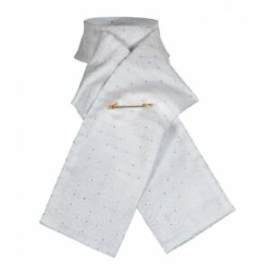 Consciencieux Shires Equestrian Ready Tied équitation Brocade Stock-blanc-afficher Le Titre D'origine Belle En Couleur